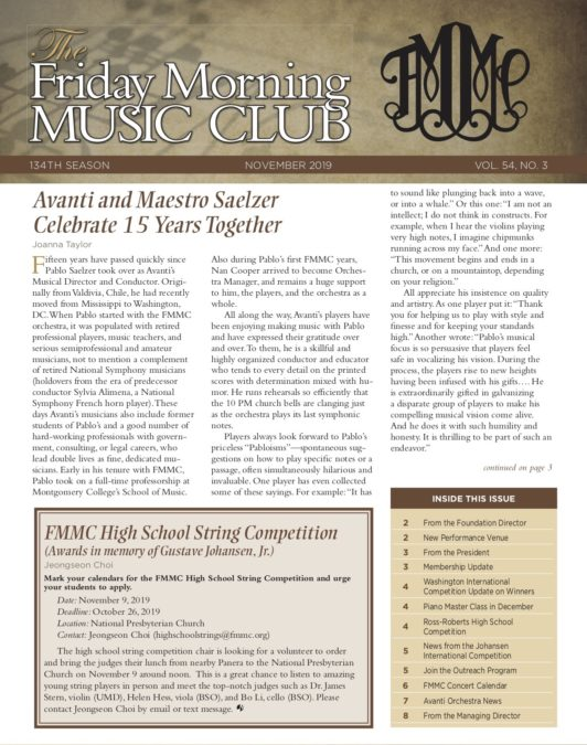FMMC Nov 2019 Newsletter Cover Image