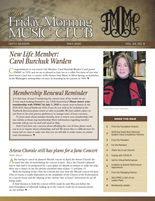 FMMC May 2020 Newsletter Cover Image